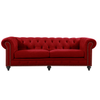 CHESTERFIELD 3 SEATER SOFA - VELLUTO LUXE RED
