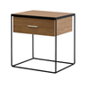 BUDGET 1 DRAWER BEDSIDE TABLE - ASSORTED COLOURS