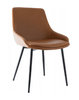 COMO LEATHERETTE DINING CHAIR - TAN