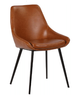 DOMO LEATHERETTE DINING CHAIR - TAN