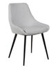 DOMO FABRIC LINEN DINING CHAIR - LIGHT GREY