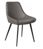 DOMO LEATHERETTE DINING CHAIR - ANTHRACITE