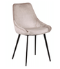 DOMO VELVET FABRIC DINING CHAIR - CHAMPAGNE