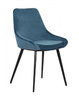 DOMO VELVET FABRIC DINING CHAIR - DUSK BLUE