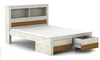 ADRIAN KING 4 PIECE TALLBOY BEDROOM SUITE WITH PHILLIPE CASEGOODS - (MODEL:BR580Q)- BRUSHED ACACIA