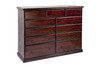 CRONULLA 11 DRAWER 1800 LOWBOY - BALTIC , WALNUT , GREYWASH