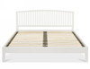 DOUBLE ALTAIR SLATTED BED - WHITE