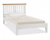 DOUBLE KADENCE SLATTED TWO TONED BED - WHITE OAK