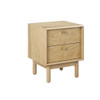ADIOLA NIGHT STAND WITH TWO DRAWER - OAK