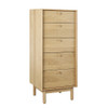 ADIOLA 5 DRAWER TALLBOY - OAK