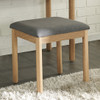 ADIOLA DRESSING TABLE STOOL ONLY - OAK