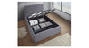 DOUBLE TOURMALINE FABRIC BED WITH UNDERBED STORAGE (IM-2005) - LIGHT GREY