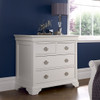 BLAIRE 4 DRAWER SPLIT TOP TALLBOY - WHITE