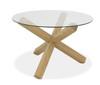 AERGLO X LEG ROUND DINING TABLE - LIGHT OAK