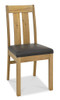 AERGLO SLATTED DINING CHAIRS (PU COVER) - LIGHT OAK BROWN