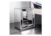 BIANKA 3 DRAWER GLASS MIRROR BEDSIDE TABLE - SILVER