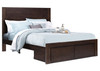 DOUBLE QUEENSTOWN WITH 2 DRAWERS TIMBER BED - MOCHA