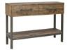 CHEFFIELD HALL TABLE - 820(H) x 1250(W) x 380(D) - RUSTIC BARN LIGHT