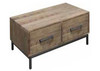 CHEFFIELD COFFEE TABLE WITH 2 DRAWERS - 420(H) x 1270(W) x 700(D) - RUSTIC BARN LIGHT