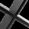 ALBUS X-SHAPED TABLE BENCH DESK LEGS - BLACK