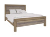 DOUBLE SCHUYLER TIMBER BED - RUSTIC PEWTER