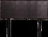 DOUBLE ALGORAB LEATHER HEADBOARD BEDHEAD - BROWN