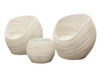 BARAMBIE CANE /  RATTAN 3 PIECE SETTING - WHITEWASH