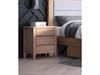 ALVAIR QUEEN 3 PIECE (BEDSIDE) BEDROOM SUITE  WITH UNDERBED DRAWERS - SOLID ASH