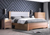 ALVAIR KING 3 PIECE (BEDSIDE) BEDROOM SUITE  WITH UNDERBED DRAWERS - SOLID ASH