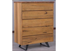 EDWIGE 5 DRAWER TALLBOY - AS PICTURED