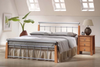 DOUBLE KOBI BED - NATURAL / SILVER