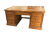 DEVLIN 7 DRAWERS TIMBER DESK - AS PICTURED