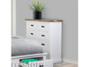 DOVER KING 4 PIECE (TALLBOY) BEDROOM SUITE WITH 2 FOOT END DRAWERS - TWO TONE