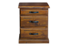 DROVER 3 DRAWER BEDSIDE- RUSTIC B'WOOD