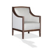 CLANCY ACCENT CHAIR CREAM FABRIC - AS PICTURED