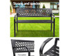 CONNAN OUTDOOR METAL BENCH WITH ARMREST - BLACK