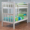 SINGLE SUSSEX / AWESOME BUNK BED WITH MATCHING SINGLE TEENAGE UNDER BED STORAGE TRUNDLE - ARCTIC WHITE