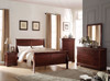 KING LOUIS PHILIPPE BED FRAME - CHERRY