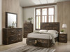 ELETTRA  QUEEN 6 PIECE (THE LOT)  BEDROOM SUITE WITH UNDERBED STORAGE DRAWERS - RUSTIC WALNUT