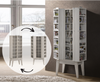 REILEY CD/ DVD STORAGE CABINET WITH HIDDEN COMPARTMENT - WHITE WASHED