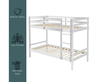 SINGLE OVER SINGLE GULLIVER BUNK BED - WHITE