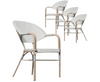 AIDEEN (SET OF 4) OUTDOOR DINING CHAIR - WHITE