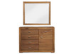 ZURICH DRESSING TABLE WITH MIRROR - 1850(H) X 1200(W) - ACACIA