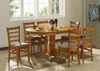 LANNICE 5 PIECE ROUND DINING SETTING - 1000(DIA) WITH CENTER PEDESTAL LEG (NOT AS PICTURED) (MODEL 13-21-19-20-1-14-7)- UMBER