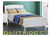 SINGLE STELLA PANEL BED (MODEL-SB-STL-P) - WHITE