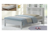 SINGLE EDMONTON BED (WS-083) WITH SINGLE UNDERBED TRUNDLE BED - WHITE