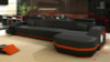 ERCOLE (G1041C) 3 SEATER LEATHER/ETTE COMBINATION CHAISE - ASSORTED COLOURS