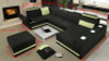 MASSIMO-II (G1064B) 1 SEATER + 2 SEATER LEATHER/ETTE COMBINATION CORNER CHAISE SUITE - ASSORTED COLOURS