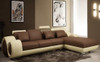 SIRENO-III (F2002C) 3 SEATER CHAISE LOUNGE LEATHER/ETTE COMBINATION - ASSORTED COLOURS
