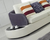 MODESTO (F2003) 3 SEATER LEATHER/ETTE COMBINATION CHAISE LOUNGE - ASSORTED COLOURS